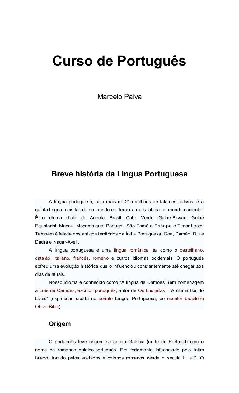 Breve história da língua portuguesa