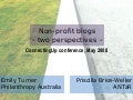 Non-profit blogs: two perspectives