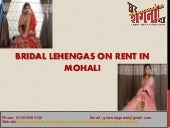 Bridal Lehengas on Rent in Mohali