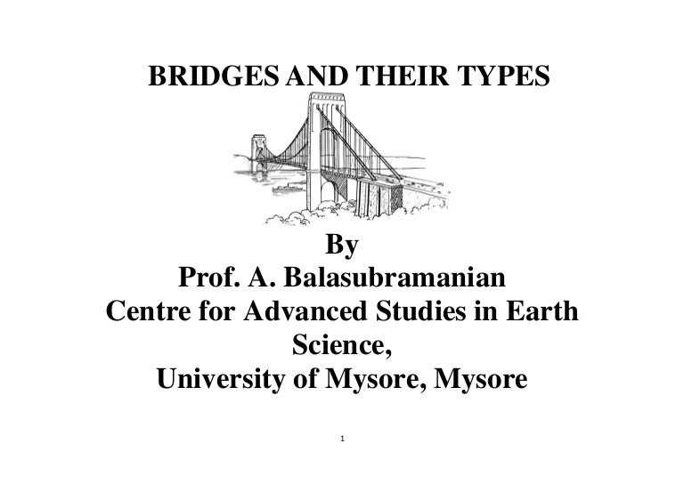 Bridges And Their Types