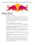 Red Bull Creative Brief