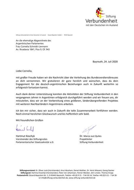 Brief an cornelia schmidt liermann