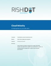 Briefing notes:   CloudVelocity