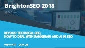 BrightonSEO - How to deal with Rankbrain and IA in SEO?