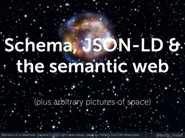 Brighton April 2015 - Schema, JSON-LD & the semantic web