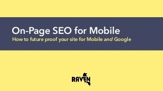 On-Page SEO for Mobile