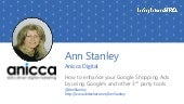 BrightonSEO - Ann Stanley talking on improving your Google Shopping Ads by optimising your product feed