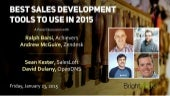 Best Sales Development Tools to Use in 2015