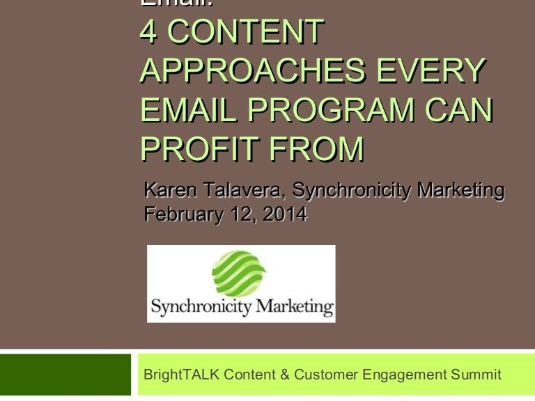 content marketing meets email 4 approaches every email program can b