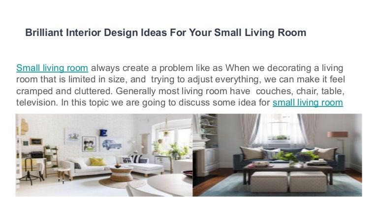 Brilliant Interior Design Ideas For Your Small Living Room