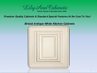 Bristol Antique White kitchen cabinets design, ideas by Lily Ann Cabinets