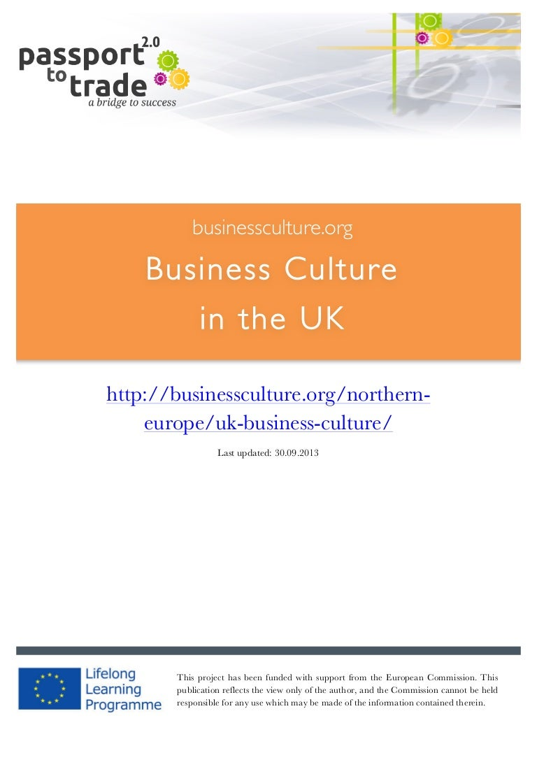 British Business Culture Guide Learn About The Uk