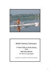 British rowing technique slides