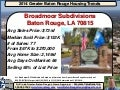 Broadmoor Subdivision Baton Rouge Home Sales 2014