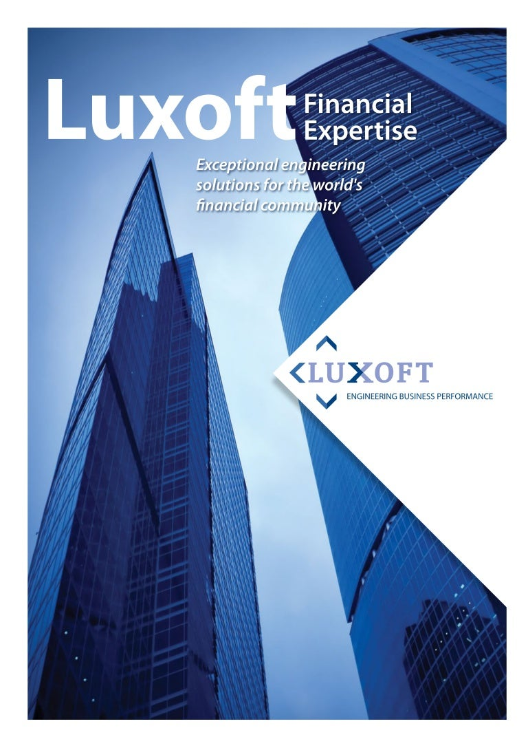 Brochure of luxoft financial expertise by luxoft software ...