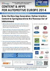 CONTENT & APPS FOR AUTOMOTIVE EUROPE 2014