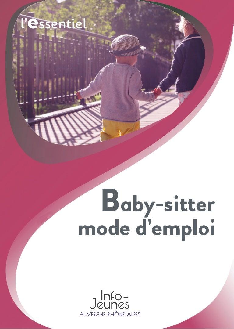 Baby Sitter Mode D Emploi édition 2019