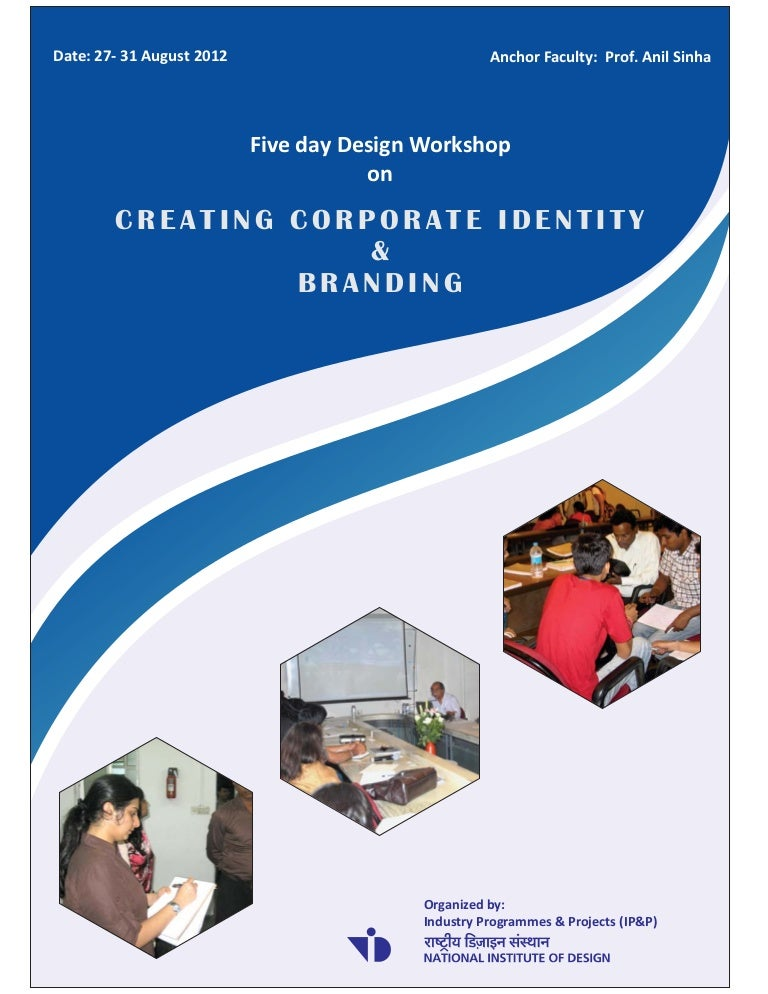 brochure for design workshop on creating corporate identity and brand u2026
