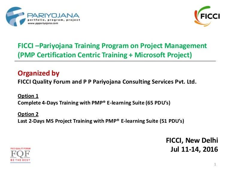 Ficci Pariyojana Training Program On Project Management