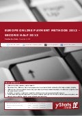 Europe Online Payment Methods 2013 - Second Half 2013_Standard_by yStats.com