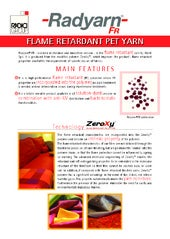 Radyarn® FR - Flame retardant Pet Yarns