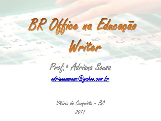 BR Office Writer na Educação