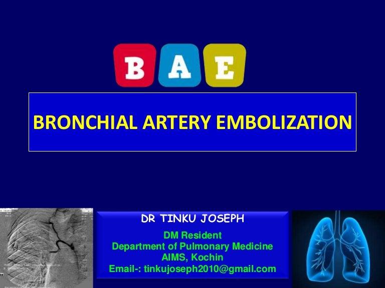 Bronchial Artery Embolization By Drtinku Joseph