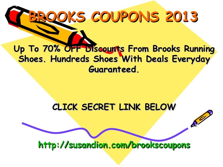 Brooks running shoes coupons promo code