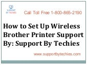 Support for Brother Wireless Printer Setup