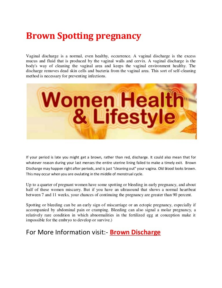 can light brown discharge be a sign of pregnancy