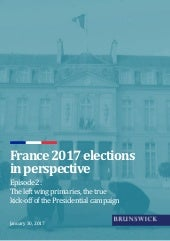France 2017 elections – The left wing primaries