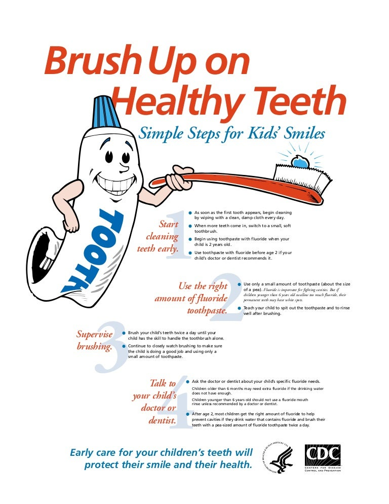 Brush Up On Healthy Teeth Poster