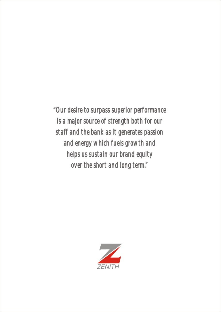 Zenith bank annual report 2008