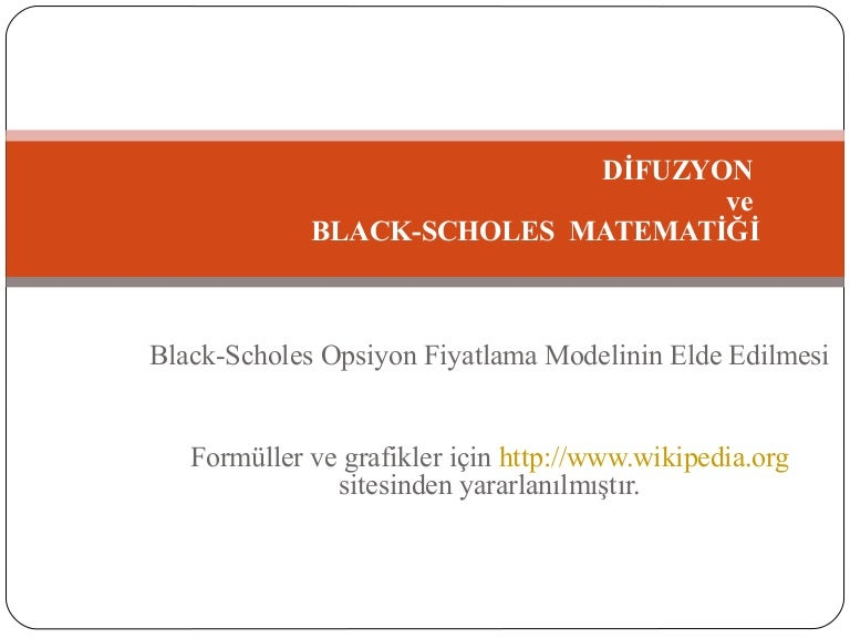 black scholes model thesis Option traders generally rely on the black scholes formula to buy options that are priced under the formula calculated value, and sell options that are priced higher than the black schole calculated value this type of arbitrage trading quickly pushes option prices back towards the model's calculated.
