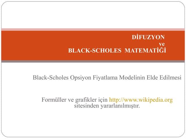 Black-Scholes Matematigi