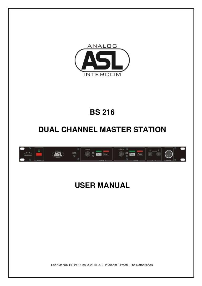 ASL Intercom BS216