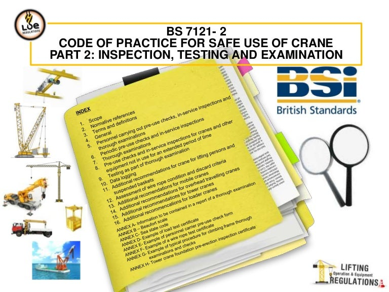 Bs 7121 2 inspection testing and examination cranes fandeluxe Gallery