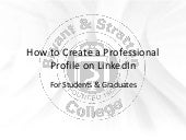 How to Create a LinkedIn Profile - Bryant & Stratton College