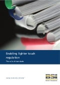 Enabling lighter touch regulation - The role of standards