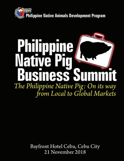 Philippine Native Pig Business Summit