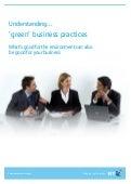 "BT Green Guide: Understanding ""green"" business practices"