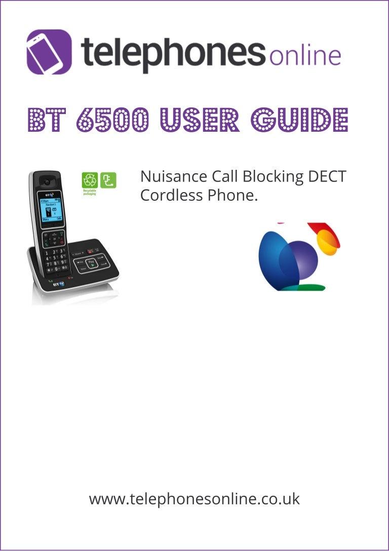 BT 6500 Digital Cordless Telephone User Guide