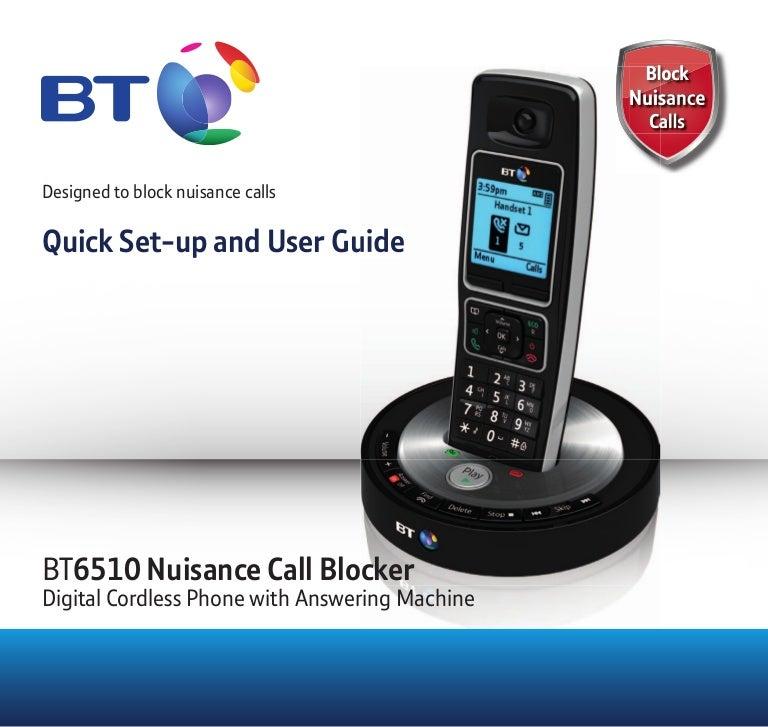 Bt 8610 digital cordless phone user guide.