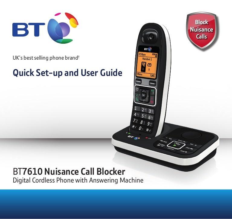 BT 7610 Digital Cordless Phone