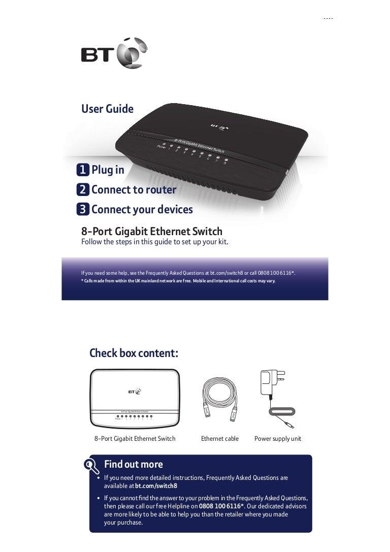 Bt 8 Port Gigabit Ethernet Switch User Guide Wiring Diagram