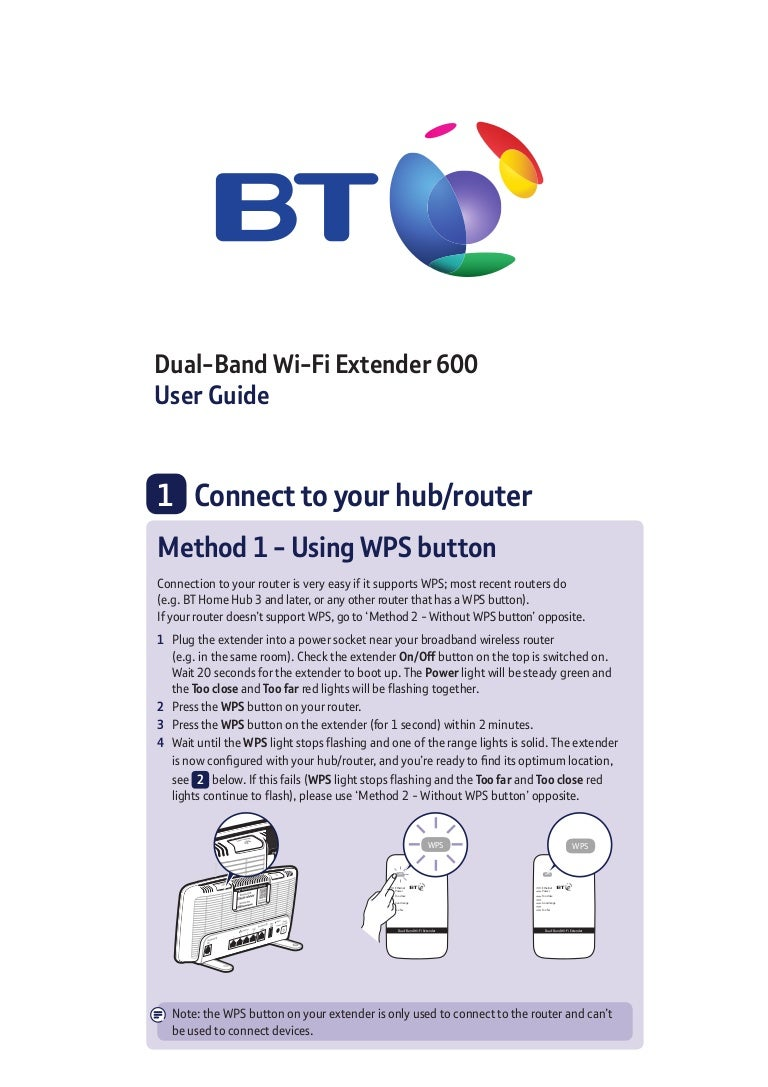 BT Dual-Band Wi-Fi Extender 600