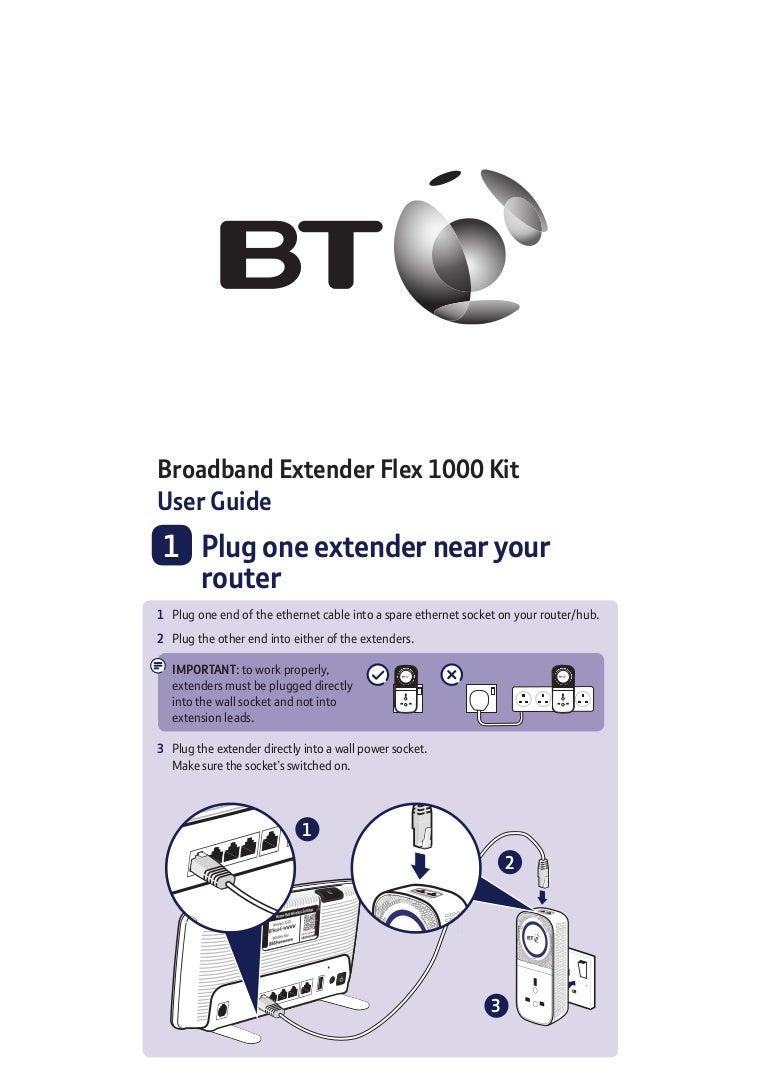 Bt Broadband Extender Flex 1000 Kit User Guide Wall Socket Wiring