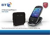 BT Home Smartphone S Digital Cordless Telephone User Guide