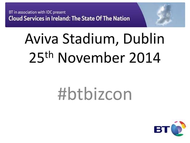 Bt  idc event cloud adoption in ireland