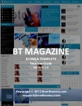 How to install, and customize content component, interface and upgrade of Joomla template BT Magazine ver.1.0